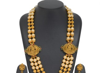Gold Plated Temple Pearl Haram