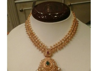 22K Latest Model Gold Short Necklace