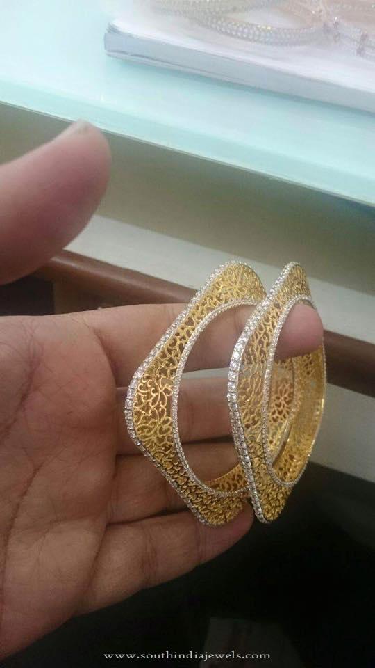 Gold Square Shaped Bangle
