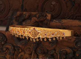 Gold Temple Jewellery - Ottiyanam Design