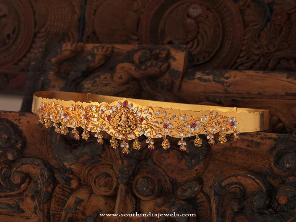 Gold Temple Jewellery - Ottiyanam Design