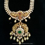 Heavy Gold Peacock Necklace