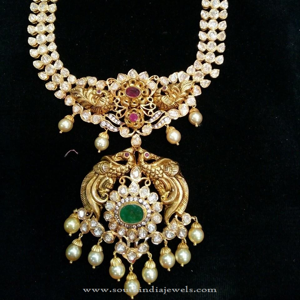 stone india jewels gold mor heavy jewellers from antique necklace south