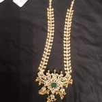 New Gold Long Stone Necklace