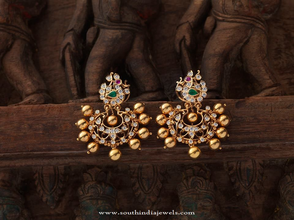 Indian Antique Jewellery Earrings Designs