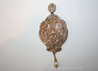Indian Gold Stone Pendant