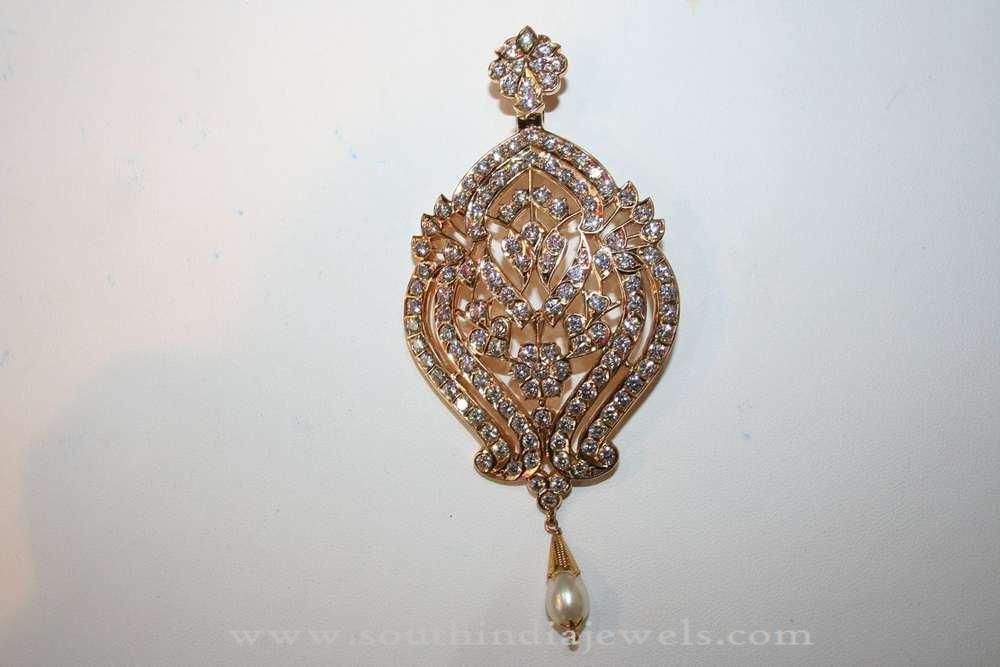 pendant gold pin india indian century from rajasthan mid