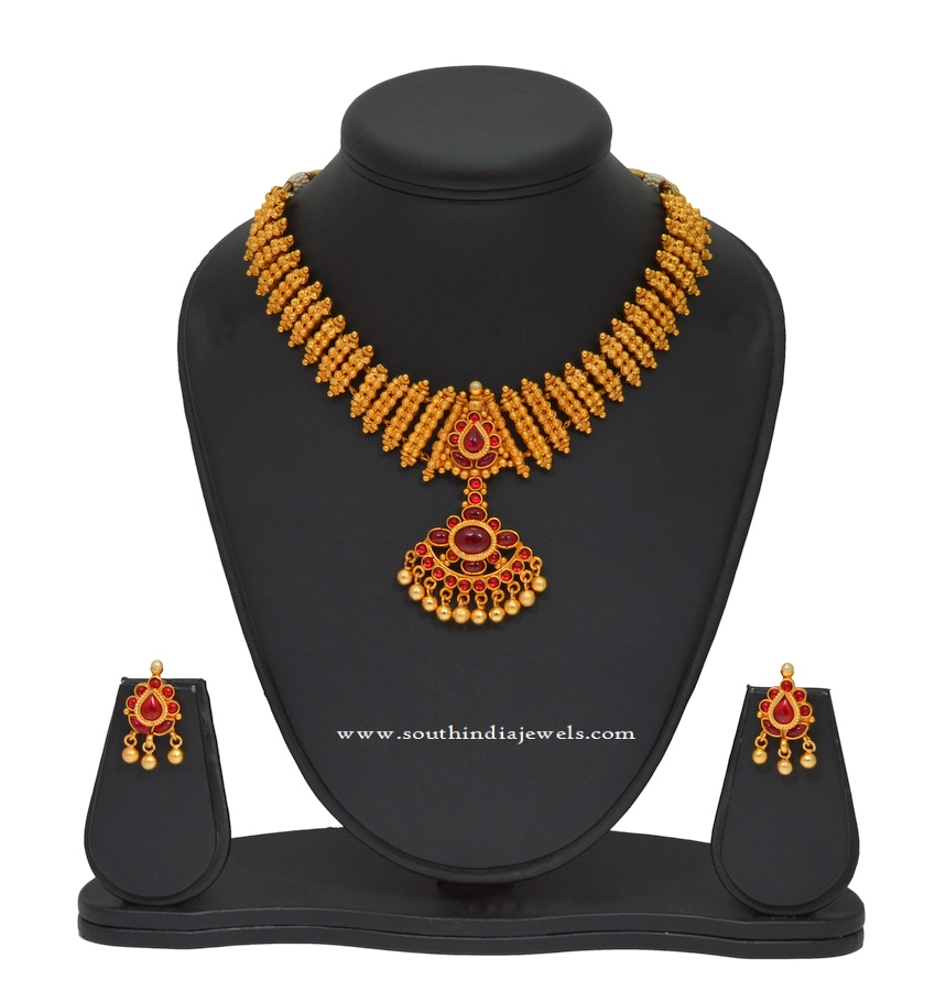 Kemp Attigai Necklace and Earrings