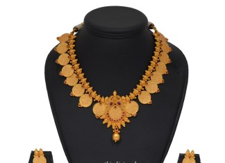 Latest Model Coin Necklace and Ear Stud
