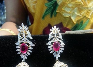 Light Weight Diamond Jhumka Model