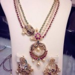 Multilayer Gold Antique Necklace and Earrings