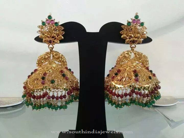 New Gold Jhumka Design