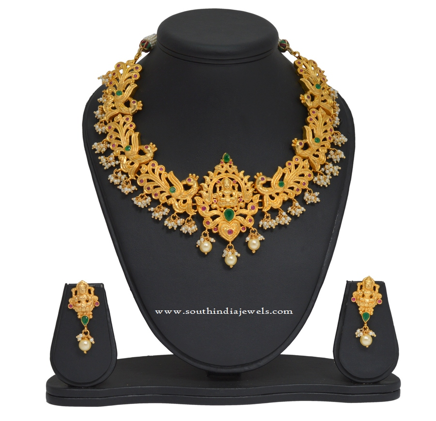 New Temple Lakshmi Necklace Set