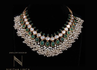 North Indian Style Gold Pearl Necklace