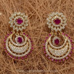 One Gram Gold Designer Stone Earrings