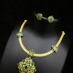 One Gram Gold Green Stone Necklace