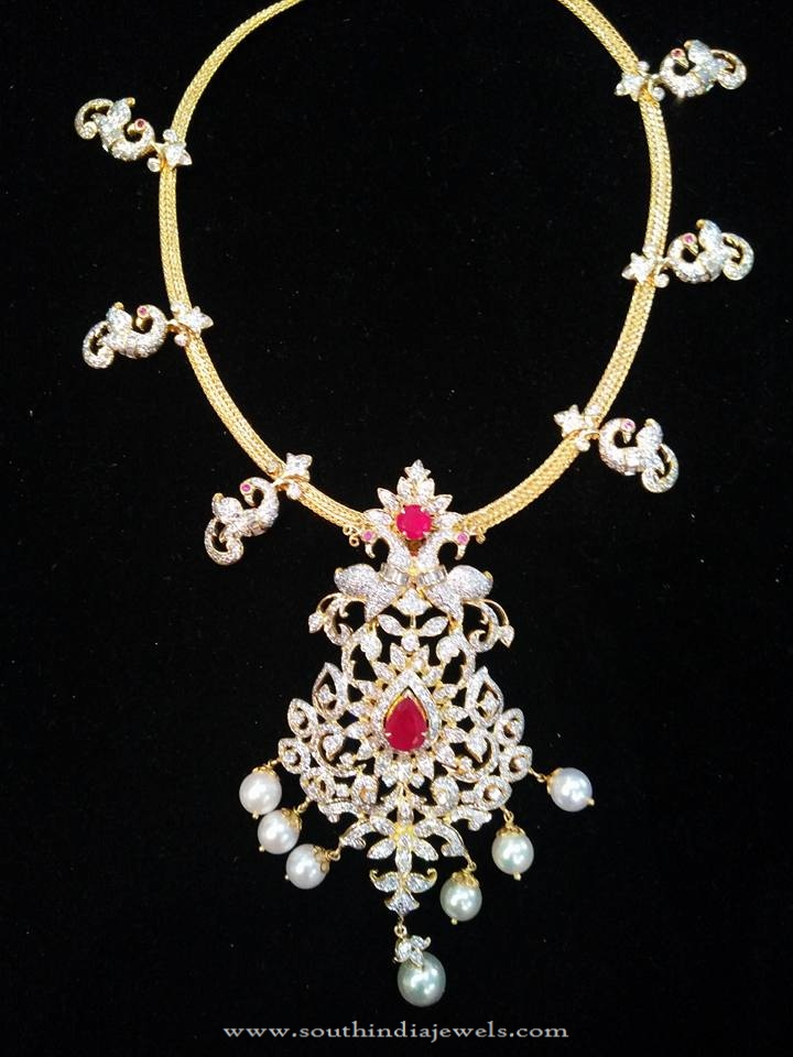 Short Diamond Necklace Design