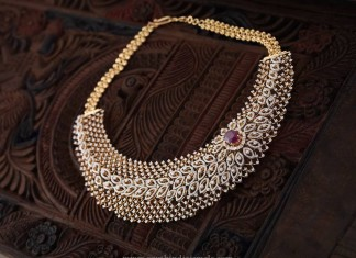 South Indian Diamond Choker Necklace