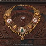South Indian Gold Temple Necklace Design