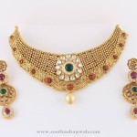 Gold Designer Kundan Choker Necklace