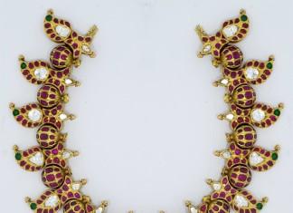 Gold Kemp Stone Necklace Sets