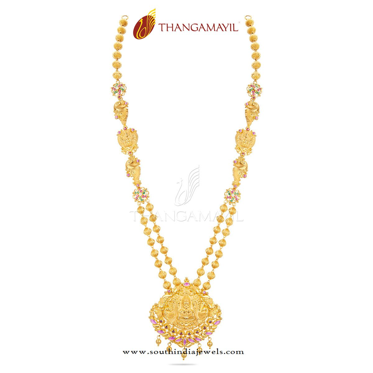 Gold Long Necklace From Thangamayil Jewellery South