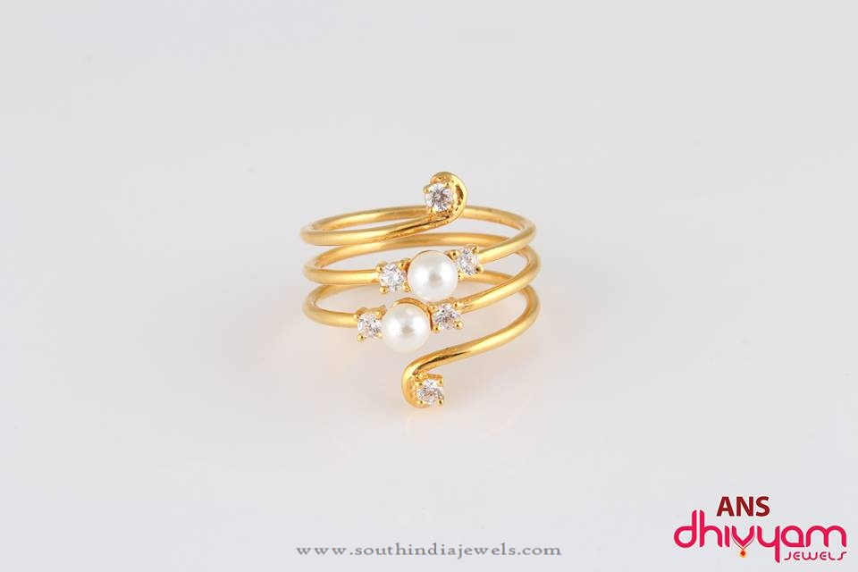 style fancy ring spiral rings gold