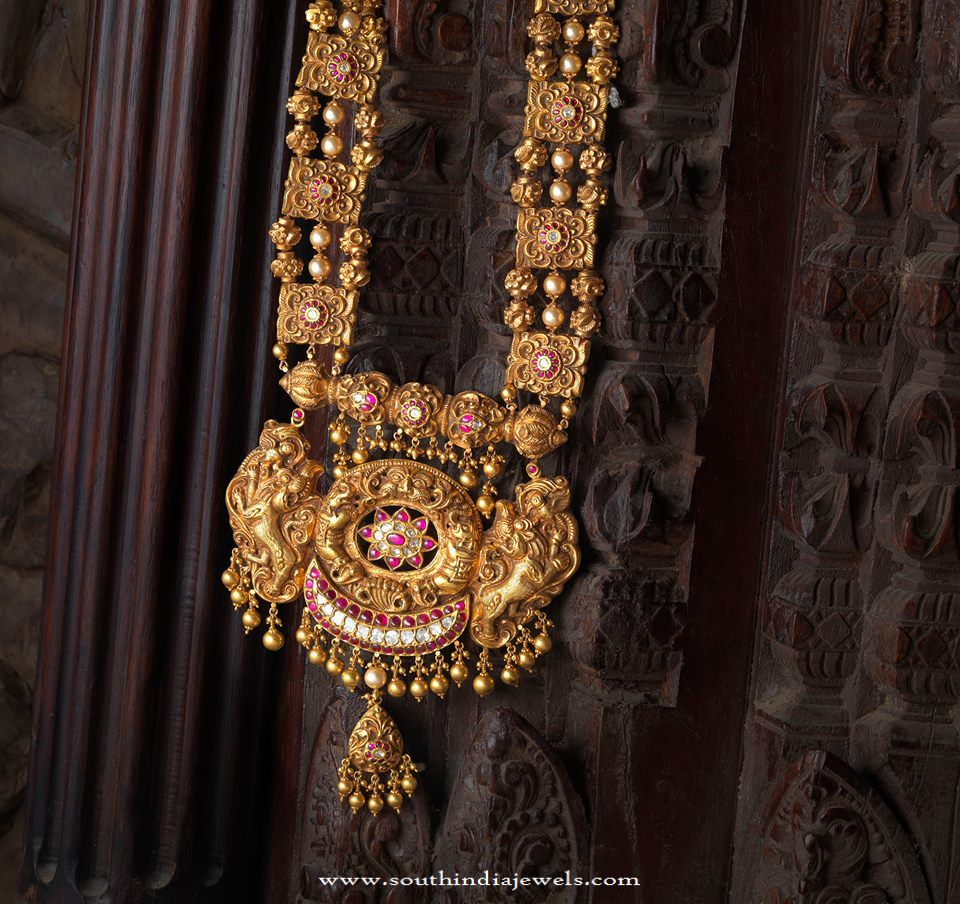 Indian Antique Temple Jewellery Designs