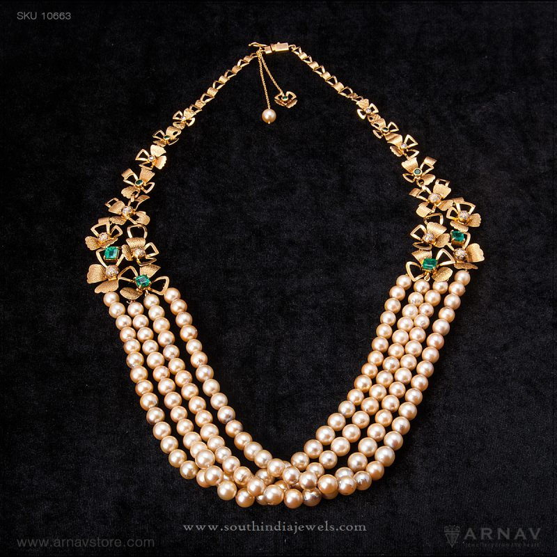 c1359033fd2a0 Indian Pearl Bridal Jewellery ~ South India Jewels