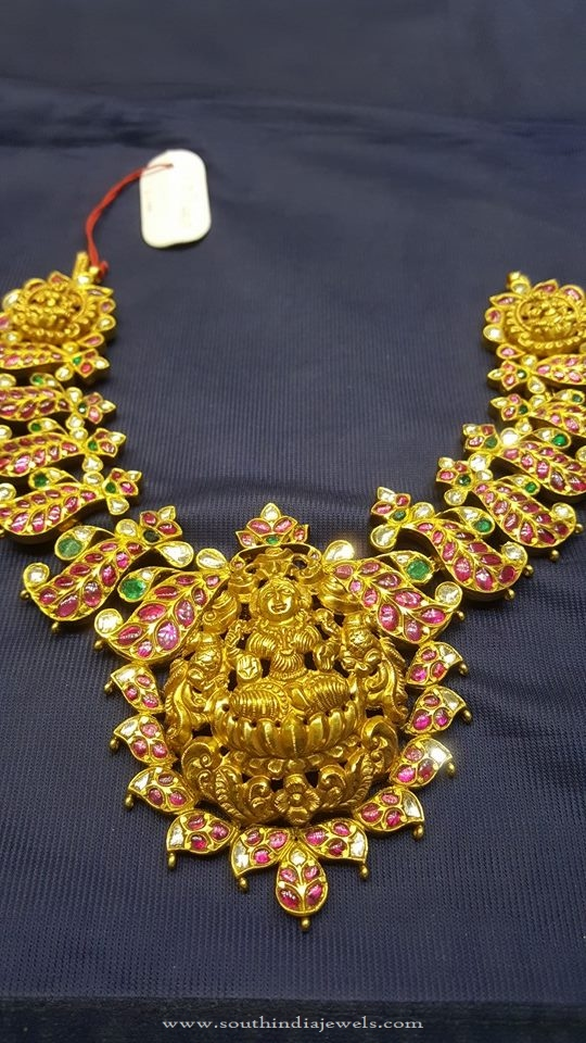 Gold Kundan Antique Necklace