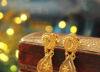 22K Gold Long Jhumka Model from Manubhai Jewellers