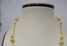 22K Gold Light Weight Pearl Chain