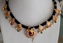 Beautiful Black Dori Necklace Designs