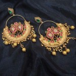Latest Gold Antique Earrings (Ring Style)