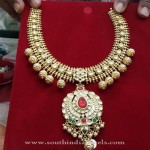 New Gold Antique Attigai Necklace