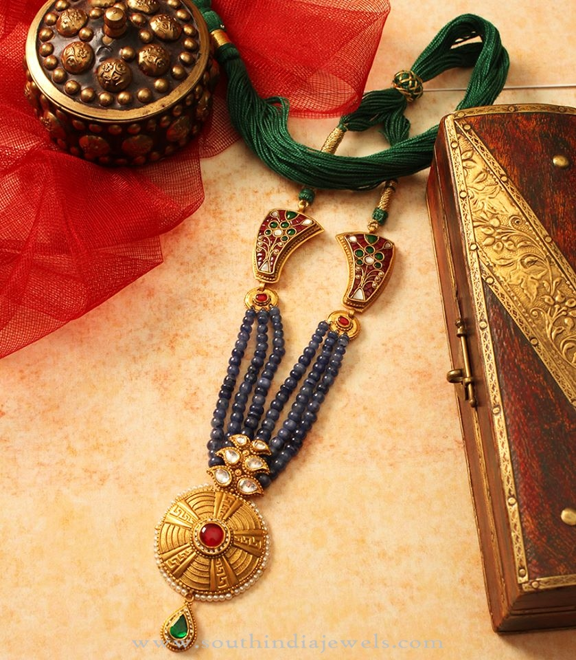 Gold Antique Beaded Necklace