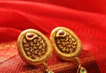 Gold Antique Ear Studs