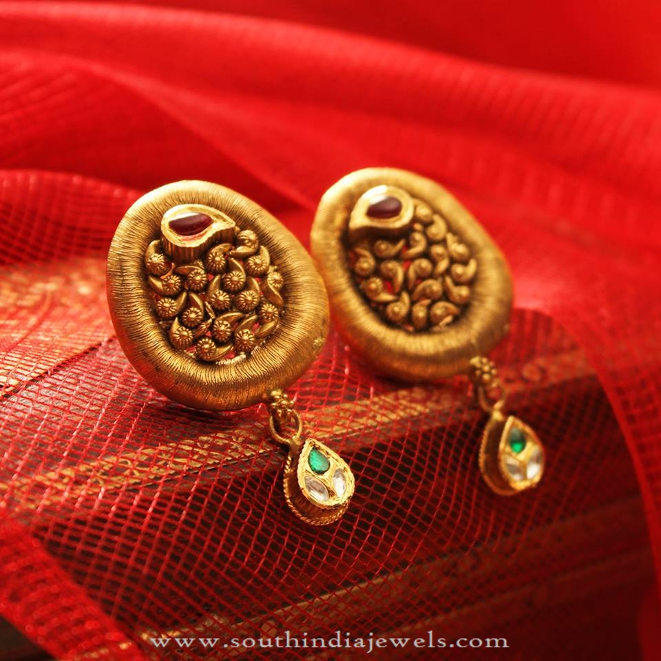 gold pin earrings red geffenjewelry one solid stone by ruby of studs kind a stud with
