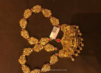 Gold Antique Long Temple Necklace