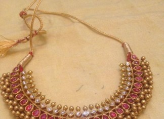 Gold Antique Ruby Tussi Necklace
