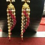 Gold Hoop Jhumka Earrings