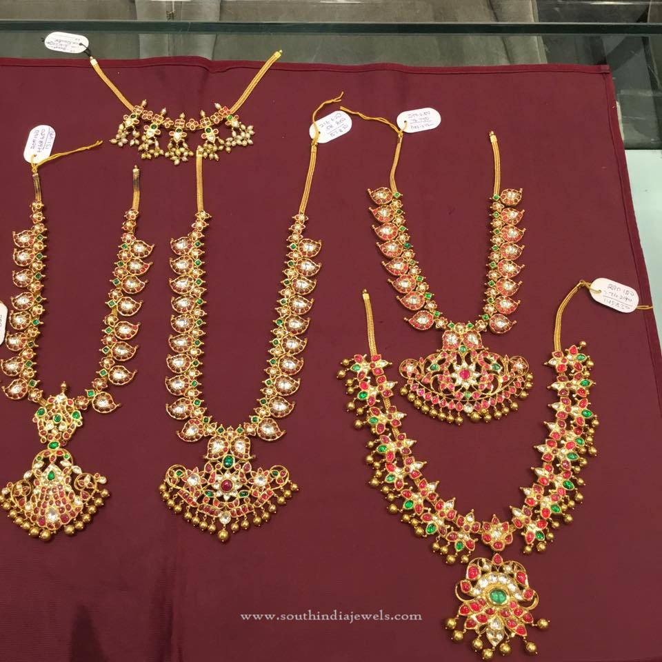 Latest Model Gold Kemp Necklace Designs