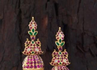 Gold Kemp Jhumka