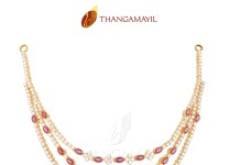 Gold Layered Ruby Necklace Design