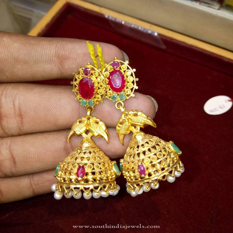 Gold Light Weight Jhumka Model