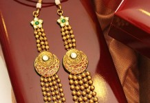 Gold Multilayer Ball Haram From Manubhai Jewellers