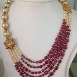 Gold Pearl Ruby Mala