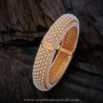 Gold Plated Adjustable Pearl Bangle