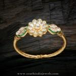 Gold Plated Kundan Bracelet