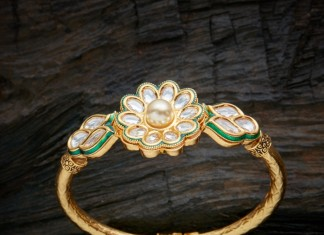 Gold Plated Kundan Bangle Online